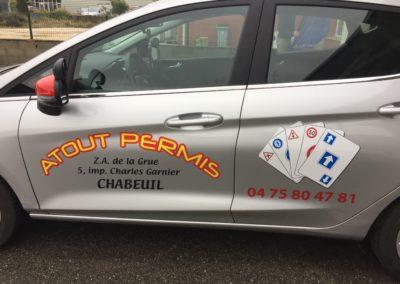 AJC Impression flocage vehicule Atout Permis Chabeuil