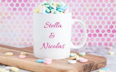 Mug personnalisable pour la Saint-Valentin